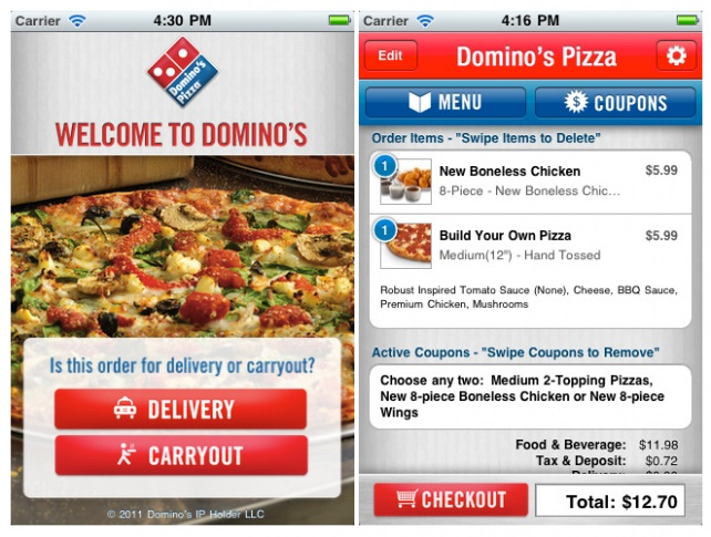 online ordering system dominos pizza is using information technology essay Chase online credit cards, mortgages, commercial banking, auto loans, investing & retirement planning, checking and business banking.