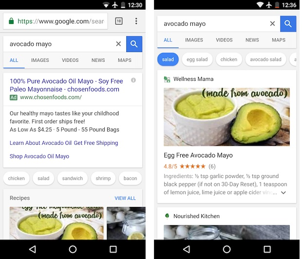 Google now shows recipe options on food searches digital google has updated its search engine to display suggestions for recipes when users search for types of food forumfinder Gallery