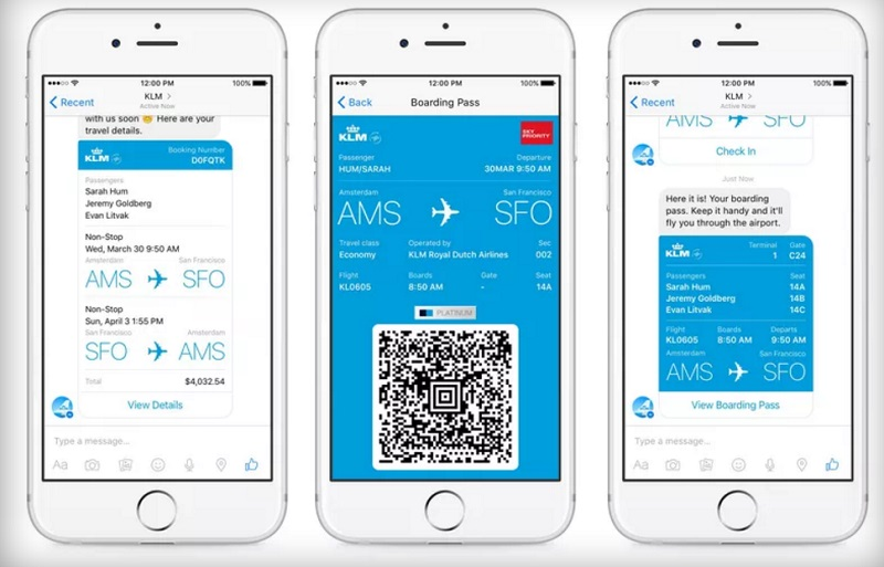 KLM creates chatbot on Facebook Messenger and WeChat