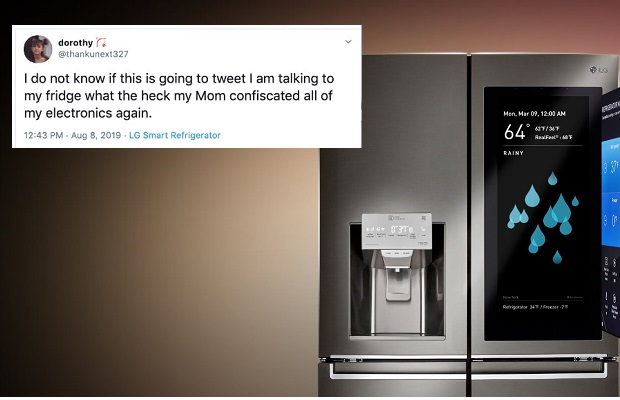 Teenager uses smart fridge to tweet after mother confiscates her phone