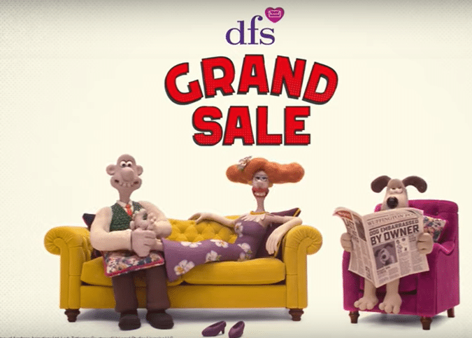 DFS celebrates 30 years of sofa sales with Wallace and Gromit