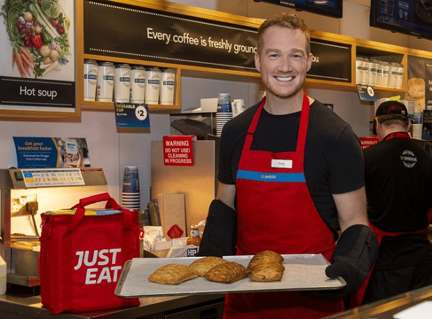 Delivery Wars Heat Up Greggs Picks Just Eat Over Uber And