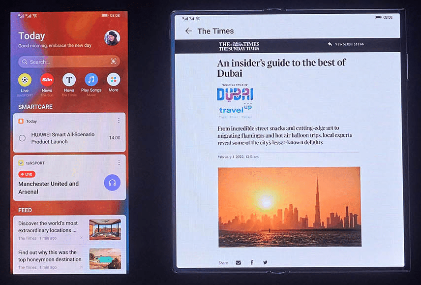 Huawei partners News UK for app news service