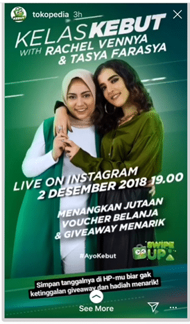 Case study: Indonesian online retailer doubles sales with Instagram Live social media ads