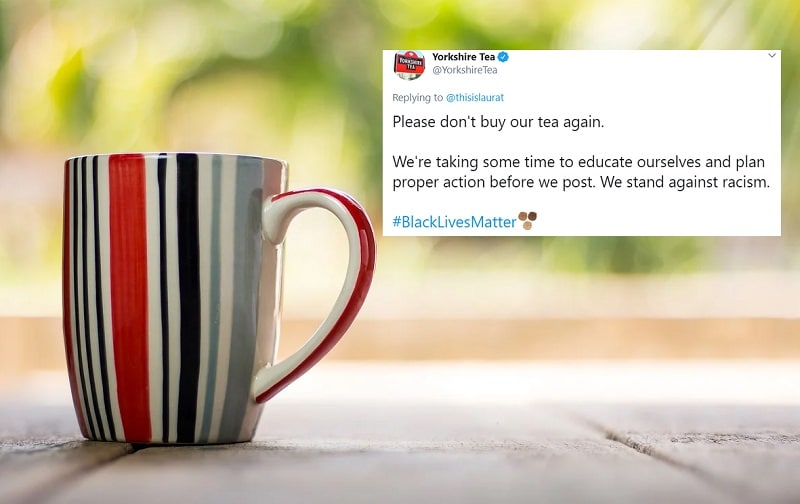 """""""Please don't buy our tea"""": How one brand sparked a Twitter storm over BLM support"""