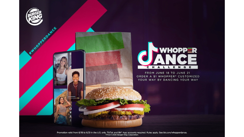 Burger King Partners Tiktok For Whopper Dance Challenge