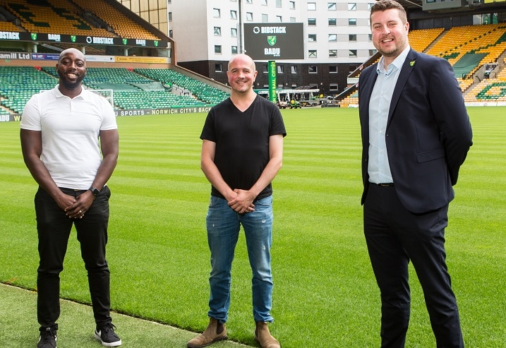 Norwich City, BADU Sports and Bidstack launch football youth initiative