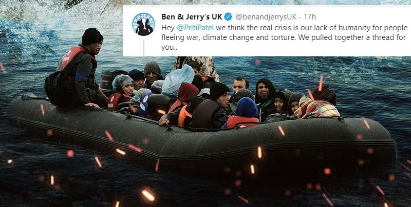 """""""People cannot be illegal"""": Ben & Jerry's sparks controversy over refugee tweet"""
