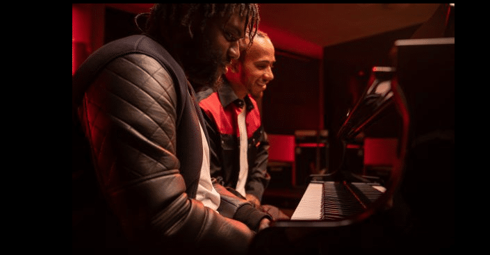 Vodafone powers 5G piano duet with Lewis Hamilton