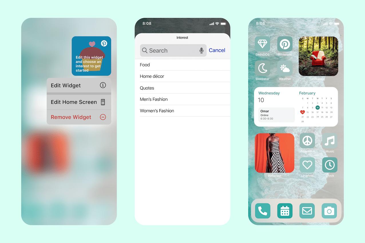 Pinterest launches 'Interests' mobile widget