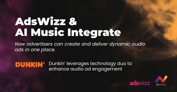 AdsWizz AI tool matches background ad music to each listener: Dunkin' first brand on board